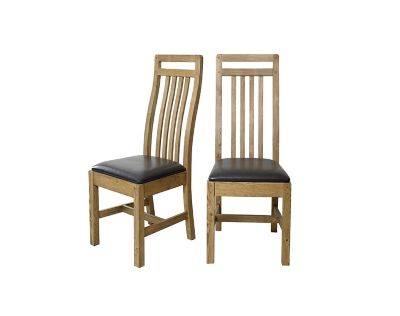 Calais Solid Wood Chairs (Pair)