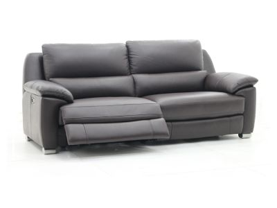 Harveys Reid Apsley Leather 3 Seater Sofa With 2 Electric Recliner Actions