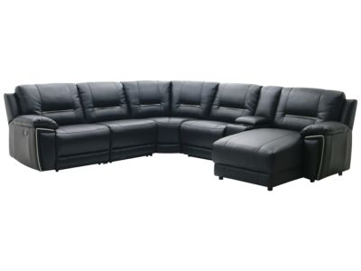 Harveys Hedgemoor Standard Right Hand Facing Manual Recliner Leather Corner Group Sofa With Media Tray