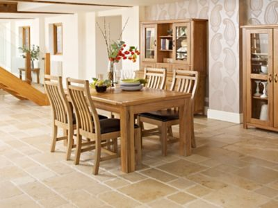 Calais Extending Dining table & 4 Solid Wood Chairs