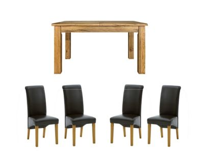 Toulouse Extending Dining Table & 4 Darcy Chairs