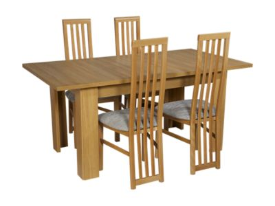Hampshire Large Extending Dining Table & 4 Tall Wooden Chairs