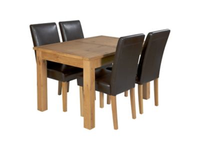 Brookes Extending Dining Table & 4 Bella Chairs