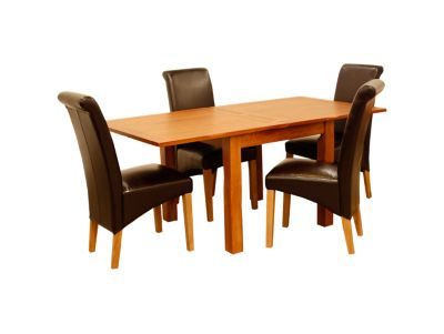 Toulouse Flip Top Extending Dining Table & 4 Darcy Chairs
