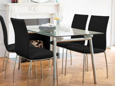 Buy Cheap Chrome Glass Dining Table Compare Tables Prices For Best UK Deals