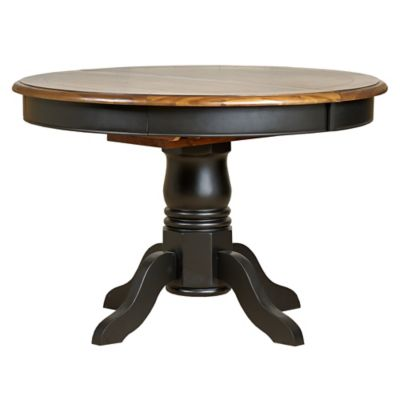 Harveys Bryony Round extending dining table black