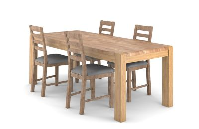 Cargo Portsmore Extending Dining Table & 4 Victoria Chairs