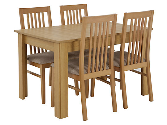 Hampshire Large Extending Dining Table 4 Wooden Chairs