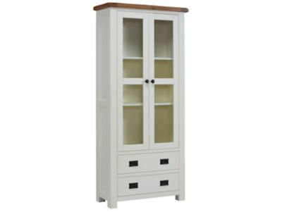 Harveys Toulouse Painted Tall glass display unit painted