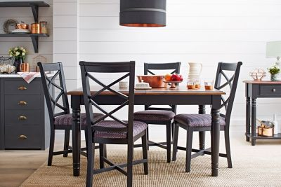 Bryony Extending Dining Table & 4 Wooden Chairs