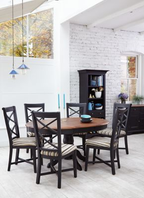 Bryony Round Extending Dining Table & 4 Wooden Chairs