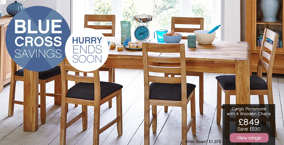 Harveys Blue Cross Savings - Portsmore Table And 4 Chairs