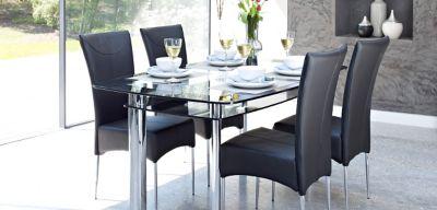 Harveys Dining Tables Glass Boat Harveys Furniture Kitchen
