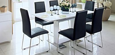 Dining Tables Wood Glass Extended Harveys Furniture