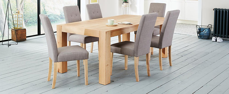 Lindos dining table 6 lucy chairs for 6 seater dining room table and chairs