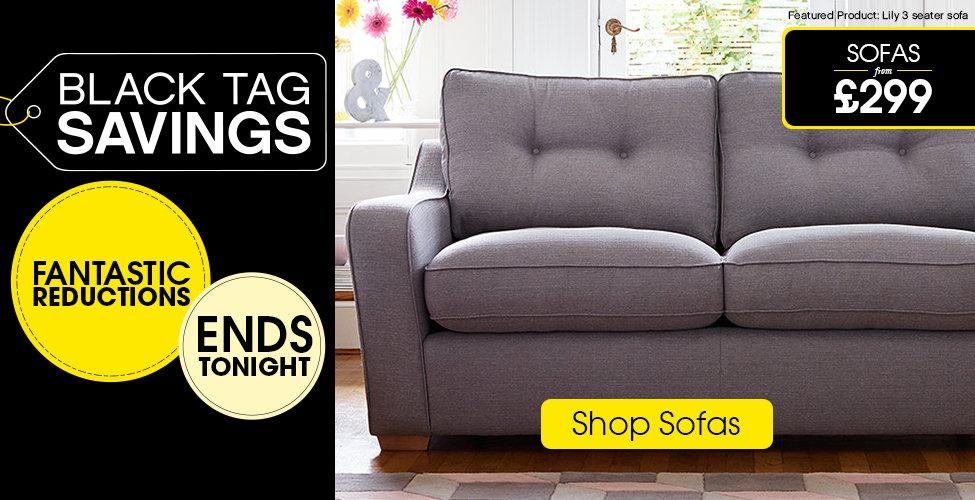 Harveys Black Tag Savings - Shop Sofas