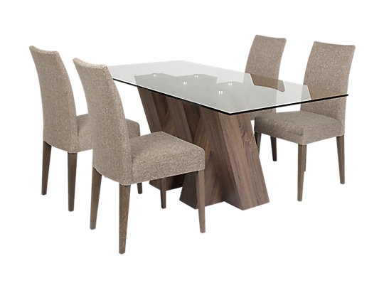 harveys dining room table chairs. piston table \u0026 4 brown fabric chairs harveys dining room g