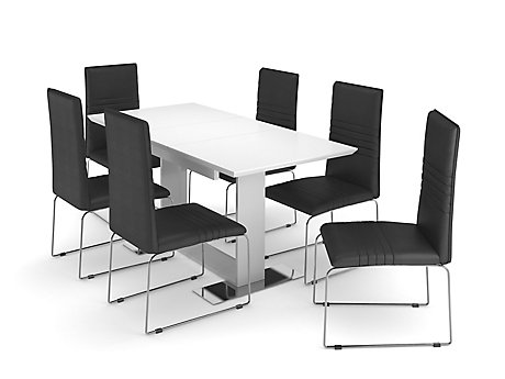 Nova Extending Dining Table 6 Chairs