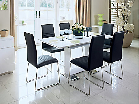 Nova Extending Dining Table & 6 Chairs