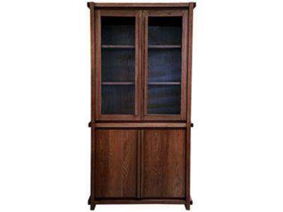 Claremount Dark Tall Glass Display Unit