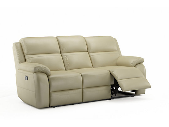 Charmant Leather, Milk. Manual Recliner