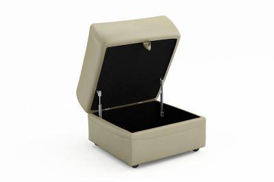 Storage Leather Footstool - Harveys Warren