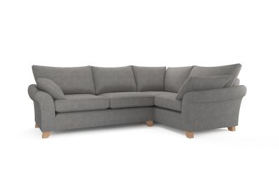 Grayson Sofa Grayson Mid Century Curved Wood Arm Sofa By