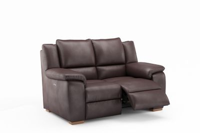 Harveys Finchley 2 Seater Leather Electric Incliner Sofa