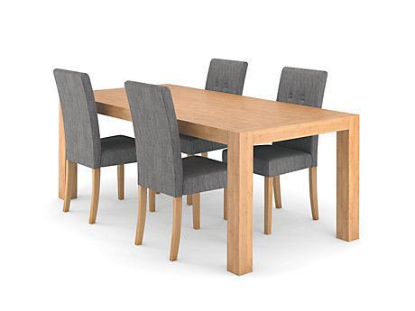 Lindos Dining Table & 4 Lucy Chairs