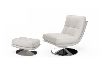 Manoco Swivel Chair and Footstool