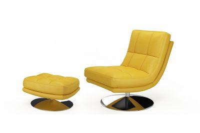 Manoco Swivel Chair and Footstool
