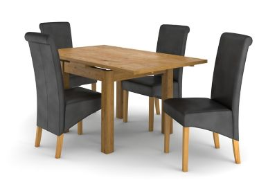 Brookes Square Extending Dining Table & 4 Darcy Chairs