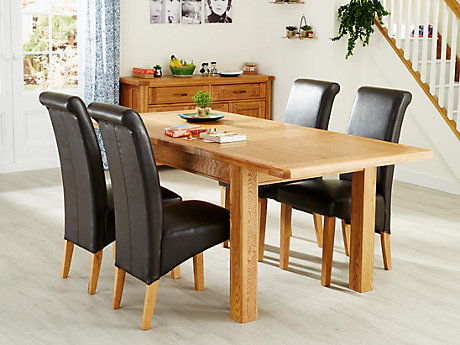 Calais Extending Dining Table & 4 Darcy Chairs