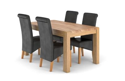Cargo Portsmore Fixed Dining Table & 4 Darcy Chairs