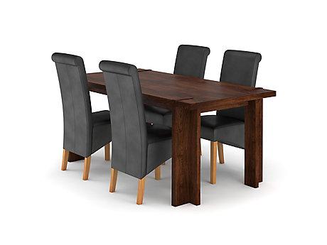 Claremount Dark Extending Dining Table U0026 4 Darcy Chairs ... Part 59