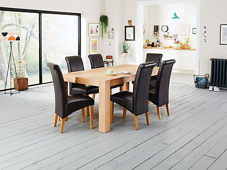 lindos dining table u0026 6 darcy chairs