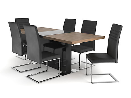 Vieux Extending Dining Table U0026 6 Alcora Chairs ...