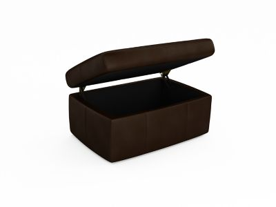 Harveys Montreal Storage Leather Footstool - Boston LLS