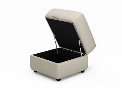 Harveys Caprera Storage Leather Footstool - LLS (B Grade)