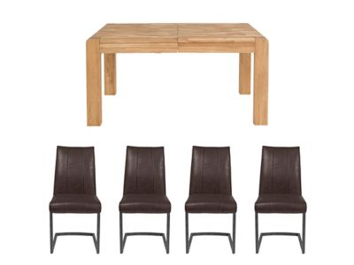 Cargo Portsmore Extending Dining Table & 4 Jefferson Chairs