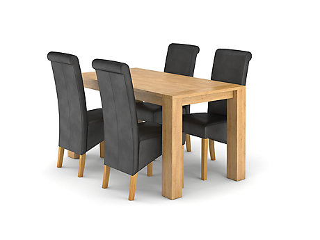Dovetail Fixed Dining Table 4 Darcy Chairs