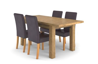Toulouse Extending Dining Table & 4 Taya Chairs