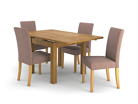 Brookes Square Extending Dining Table 4 Taya Chairs