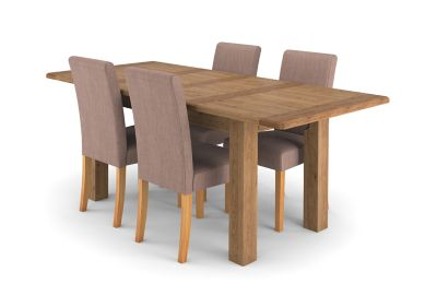 Calais Extending Dining Table & 4 Taya Chairs