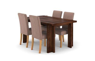 Claremount Dark Extending Dining Table & 4 Taya Chairs
