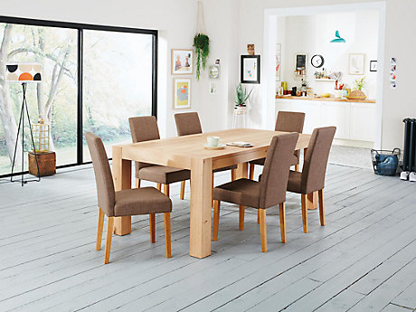 Lindos Dining Table & 6 Taya Chairs