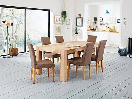 lindos dining table u0026 6 taya chairs