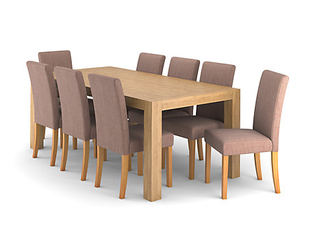 Lindos Dining Table & 8 Taya Chairs