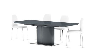 Ramira Grey Extending Dining Table & 4 Arlo Chairs