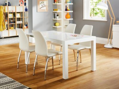 Arlo Extending Dining Table & 4 Arlo Chairs